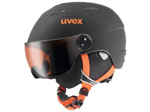 Šalmas Uvex Junior visor pro black-orange mat
