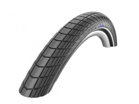"Padanga 24"" Schwalbe Big Apple HS 430, Perf Wired 50-507 Black-Reflex"