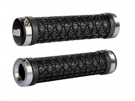 Vairo rankenėlės ODI SDG MTB Lock-On Bonus Pack Black w/Silver Clamps