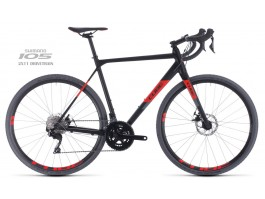 Dviratis Cube Cross Race black'n'red 2020
