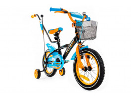 "Dviratis Monteria 14"" ALU blue-orange"