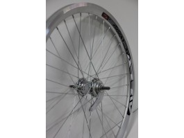 "Galinis ratas 28"" Velosteel single speed įvorė, DoubleWall silver ratlankis 30mm"