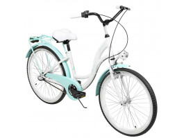 "Dviratis AZIMUT Julie 24"" 3-speed 2021 white-turquoise"