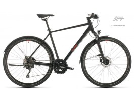 Dviratis Cube Nature EXC Allroad black'n'red 2020