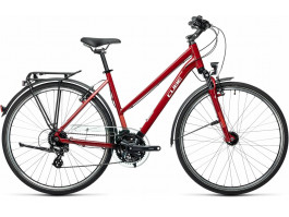 Dviratis Cube Touring Trapeze darkred'n'grey 2021