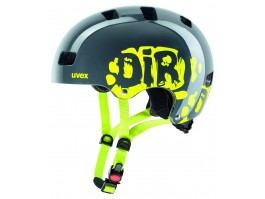 Šalmas Uvex Kid 3 dirtbike gray-lime