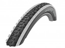 "Padanga 27.5"" Schwalbe Rapid Rob HS 425, Active Wired 57-584 White Stripes"