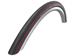 "Padanga 28"" Schwalbe Lugano II HS 471, Active Wired 25-622 Red Stripes"