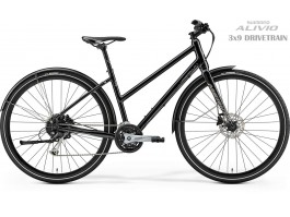 Dviratis Merida CROSSWAY URBAN 100 Lady 2019 glossy black