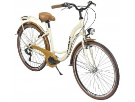 "Dviratis AZIMUT Vintage TX 28"" 6-speed 2020 cream-brown"
