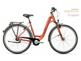 Dviratis Cube Town Pro Easy Entry red`n'grey 2021