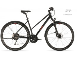 Dviratis Cube Nature EXC Allroad Trapeze black'n'red 2020