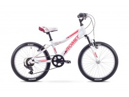 "Dviratis Romet Jolene KID 20"" Alu 2018 white-red"