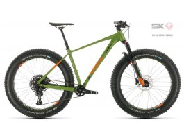 Dviratis Cube Nutrail green'n'orange 2020