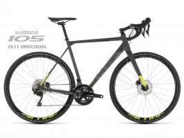 "Dviratis Cube Cross Race Pro grey""n""flashyellow 2019"