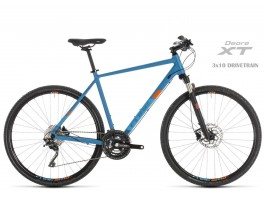 "Dviratis Cube Cross Pro blue""n""orange 2019"