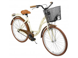 "Dviratis AZIMUT City Lux 26"" 2021 with basket cream-brown"