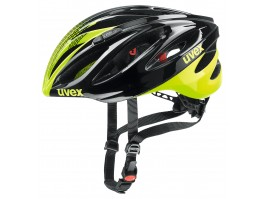 Šalmas Uvex Boss Race black-neon yellow