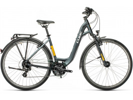 Dviratis Cube Touring Easy Entry grey'n'yellow 2021