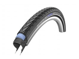 "Padanga 24"" Schwalbe Marathon Plus HS 348, Evo Wired 37-540 Black"