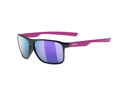 Akiniai Uvex lgl 33 Polarized black pink mat / mirror purple