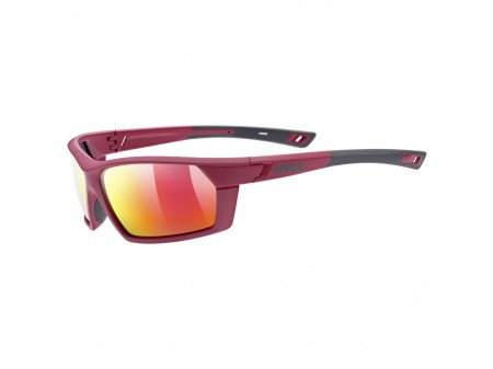 Akiniai Uvex Sportstyle 225 Polarized red grey mat / mirror red
