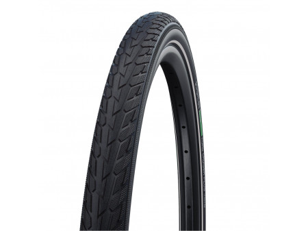 "Padanga 28"" Schwalbe Road Cruiser Plus HS 484, Active Wired 55-622 GreenCompound Reflex"