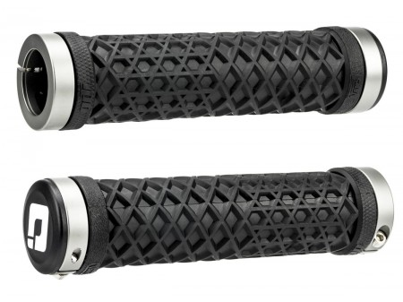 Vairo rankenėlės ODI Vans Lock-On Grips Black w/ Graphite Clamps