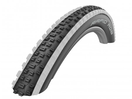 "Padanga 26"" Schwalbe Rapid Rob HS 425, Active Wired 57-559 White Stripes"