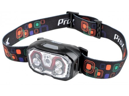 Priekinė lempa ProX Cetus No-Touch CREE XP-E 300Lm USB (headlamp)