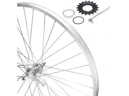 "Galinis ratas 28"" RBN single speed įvorė, platus 25mm Alu ratlankis"