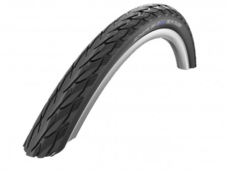 "Padanga 28"" Schwalbe Delta Cruiser Plus HS 431, Active Wired 37-622 Black-Reflex"