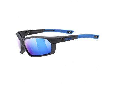 Akiniai Uvex Sportstyle 225 Polarized black blue mat / mirror blue
