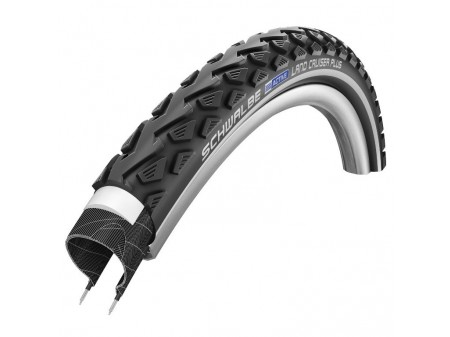 "Padanga 28"" Schwalbe Land Cruiser Plus HS 450, Active Wired 42-622 Black-Reflex"