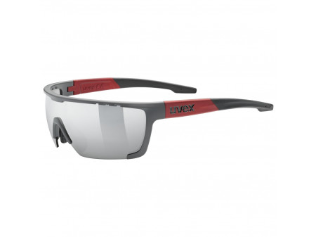 Akiniai Uvex Sportstyle 707 grey mat red / mirror silver